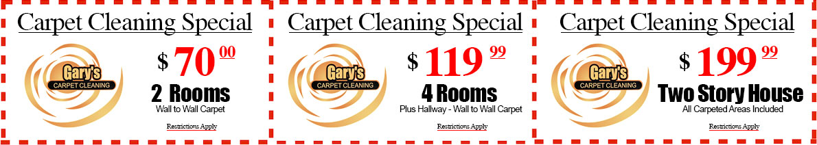 Web Specials | Gary's Carpet Cleaning